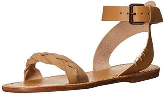 Soludos Women's Braided Ankle Strap Leather Flat Sandal