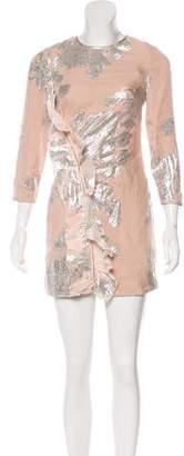 Self-Portrait Silk Blend Mini Dress