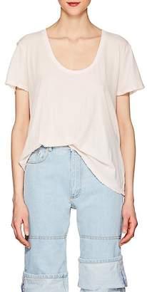 Taverniti So Ben Unravel Project Women's Basic Distressed Cotton T-Shirt