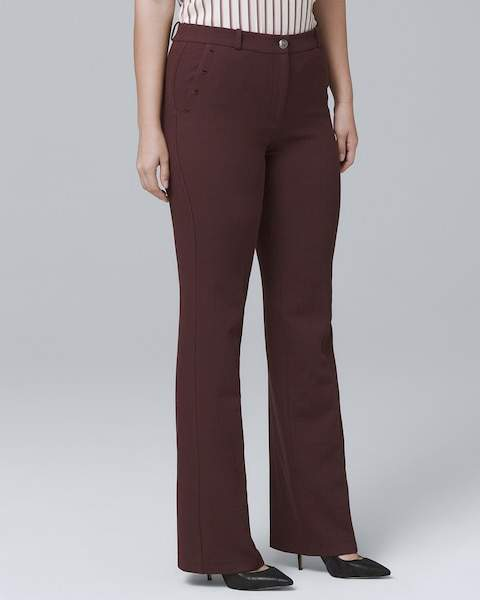 Whbm Curvy-Fit Luxe Suiting Bootcut Pants