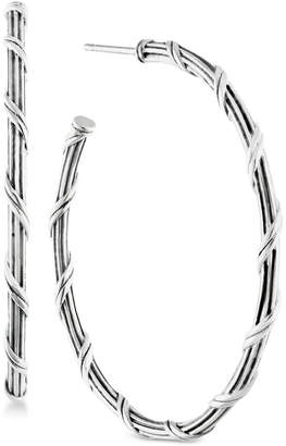 Peter Thomas Roth Overlap Hoop Earrings in Sterling Silver