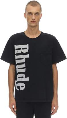 Rhude Printed Cotton Jersey T-shirt