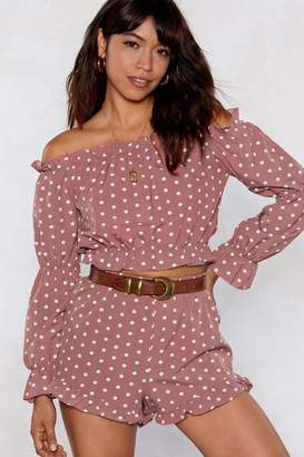 Nasty Gal You Dot This Far Off-the-Shoulder Top and Shorts Set
