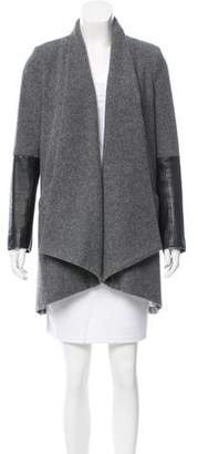 Mason Wool Leather-Paneled Coat