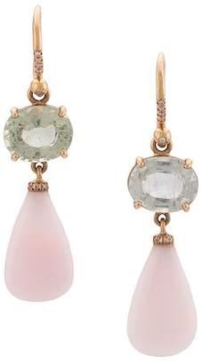 Irene Neuwirth pink opal drop earrings
