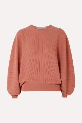 Agnona Pleated Wool Sweater - Pink