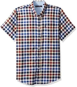 Ben Sherman Men's Plaid Short Sleeve Shirt