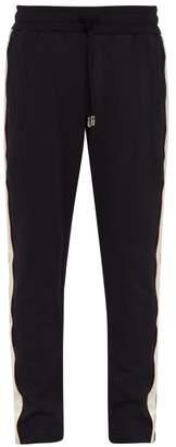 Dolce & Gabbana Satin Side Stripe Cotton Blend Jersey Track Pants - Mens - Navy