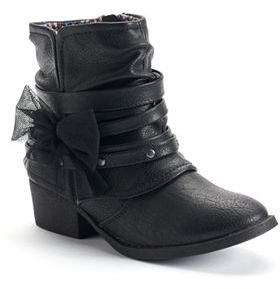 Mudd® Girls' Bow Ankle Boots $54.99 thestylecure.com