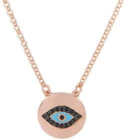 Bronzo Italia Bronze Gemstone or Crystal Evil Eye Necklace by