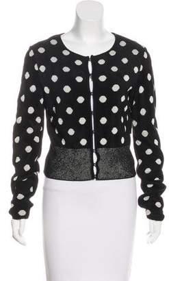 Alaia Polka Dot Textured Cardigan