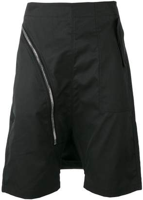 Rick Owens drop crotch zip shorts