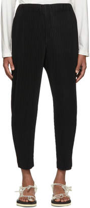 Issey Miyake Homme Plisse Black Pleated Tapered Trousers
