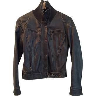 Oakwood Blue Leather Jacket for Women