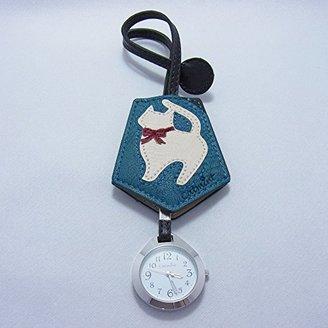 バックに付けるアクセサリー時計 ハングウォッチ おすましネコ/ブルー