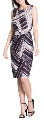 Nic+Zoe Sleeveless Twisted Sheath Dress
