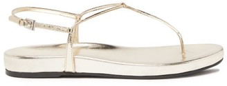 Prada Metallic Leather Sandals - Womens - Gold