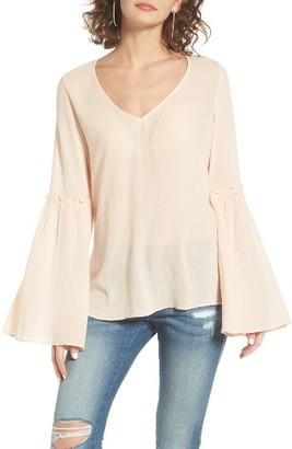 Women's Bp. Ruffle Bell Sleeve Top $45 thestylecure.com