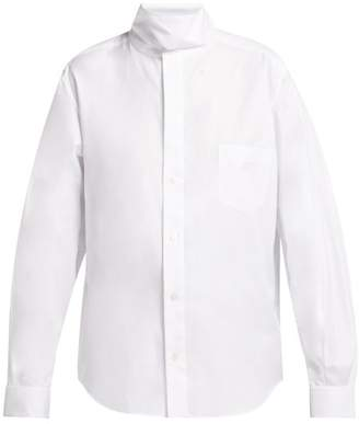 Toga Stand Collar Cotton Shirt - Womens - White