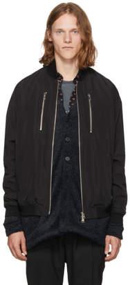 Diet Butcher Slim Skin Black Embroidered Bomber Jacket