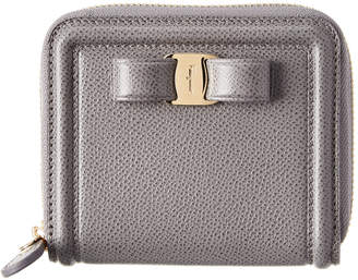 Salvatore Ferragamo Vara Bow Compact Leather Wallet