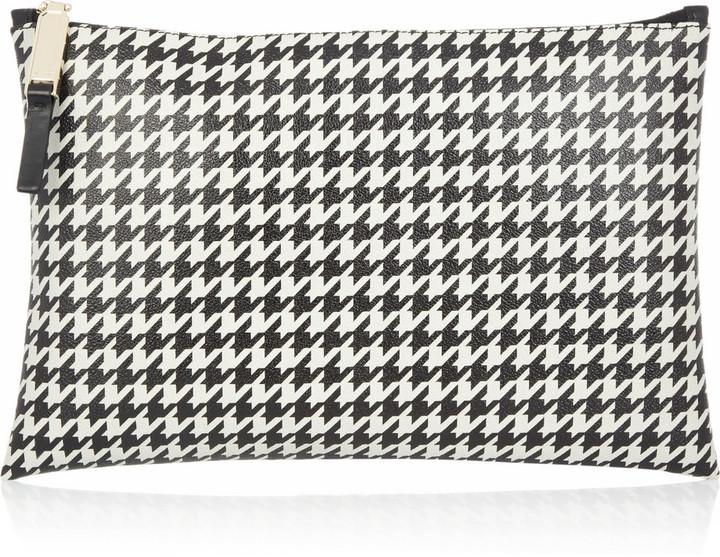 Jil Sander Houndstooth-print PVC pouch