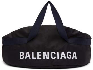 Balenciaga Black & Navy Medium Wheel Duffle Bag