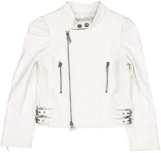 John Galliano White Leather Jacket & Coat