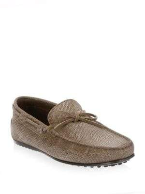 Tod's City Burnished Leather Moccasins