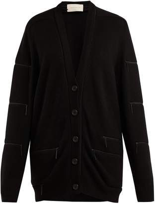 Christopher Kane Zip-trimmed cashmere cardigan
