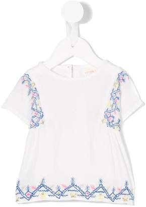 Simple embroidered top
