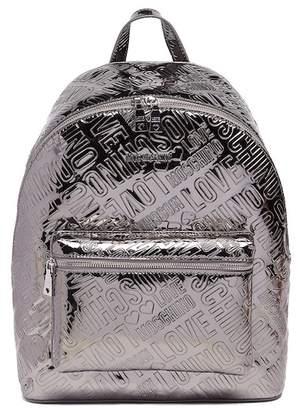 Love Moschino Metallic Logo Backpack