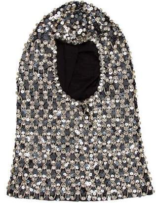 Dolce & Gabbana Embellished Virgin Wool Hood w/ Tags