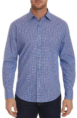 Robert Graham Shinto Dragon-Printed Plaid Classic Fit Shirt
