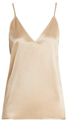 Raey V-neck silk-satin cami top