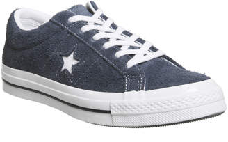 Converse One Star Trainers Obsidian White