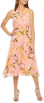 Liz Claiborne Sleeveless Floral Midi Dress