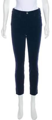 L'Agence Corduroy Mid-Rise Skinny Pants
