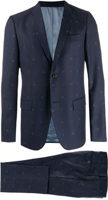 Gucci Monaco bees and hearts wool suit