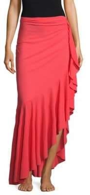 Chiara Boni Ruffle Wrap Skirt
