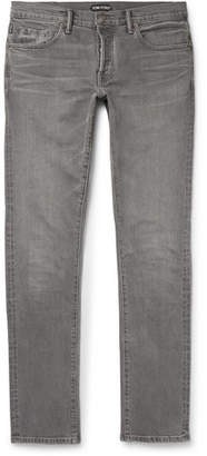 Tom Ford Slim-Fit Selvedge Denim Jeans - Men - Gray