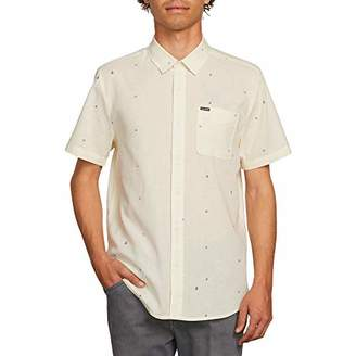 Volcom Men's Quency Dot Button Up Short Sleeve Shirt