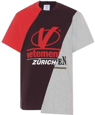 Vetements Zurich Patchwork Tee