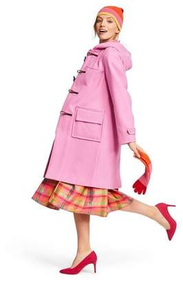 Isaac Mizrahi for Target Women's Long Sleeve Hooded Duffel Coat for Target Pink