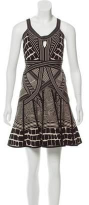 Herve Leger Jacquard Knit Mini Dress