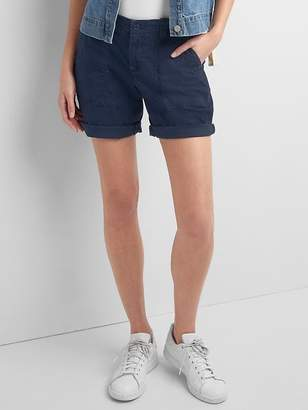 Gap Girlfriend rolled utility shorts