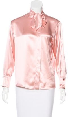Bottega Veneta Silk Long Sleeve Top