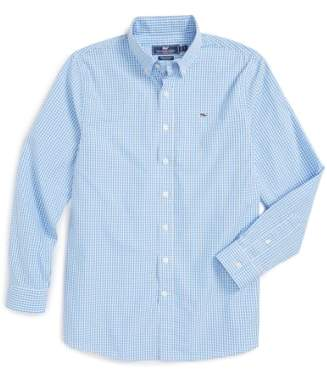 Vineyard Vines 'Classic Gingham - Whale' Long Sleeve Sport Shirt