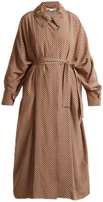 Emily geometric-print silk coat