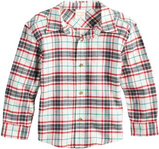 Baby Boy Jumping Beans Plaid Flannel Button Down Shirt